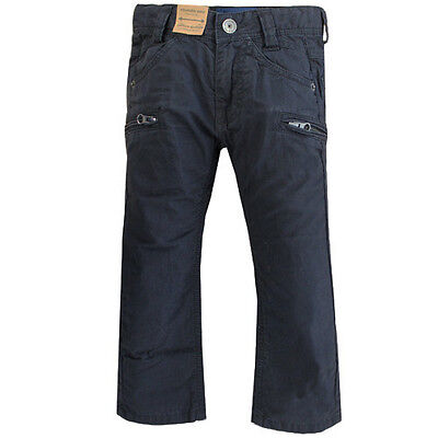 Timberland Regular Slim Cotton Boys Kids Navy Trousers Pants T4657 408 R9