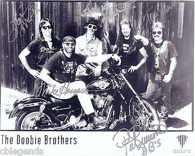 "Doobie Brothers Autographed Reprint 8"" x 10"" glossy photo print"