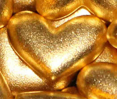3 Hearts Gold Plate Lead-Free Pewter Pocket Heart Token/Coin