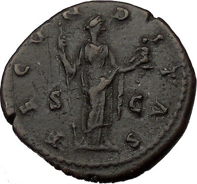 FAUSTINA II Marcus Aurelius Wife Large Ancient Roman Coin Fertility Cult  i37046