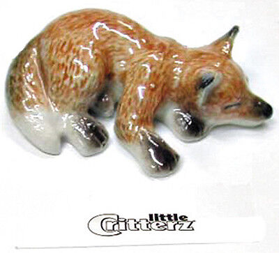 ➸ LITTLE CRITTERZ Forest Animal Miniature Figurine Fox Baby Cub Sly