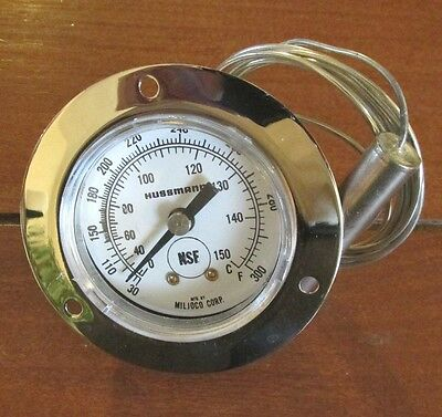 Hussman Flange Mounted Thermometer TM334429 30/+300F Hot Case Mfg by Miljoco