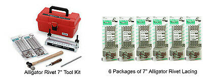 "7"" Baler Belts Repair Kit Alligator Tools w/ 24 - 7"" Fastener Ends"