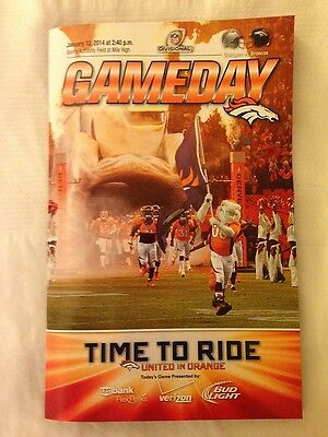 2013-14 Nfl Afc Playoffs Chargers @ Denver Broncos Football Game Program