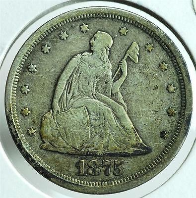 1875 S Twenty Cent Coin, TCA1 Free Shipping