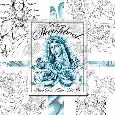 RELIGIOUS SKETCHBOOK by Steve Soto (30 pages) Tattoo Design Sketch Flash Book