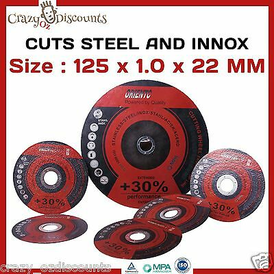 """20 X 125Mm 5"""" Cutting Discs Wheels Angle Grinder Grinding Metal Stainless Steel"""