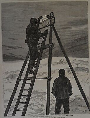 Harper's Weekly, 1876. The British Arctic Expedition. #2. Wood Engraving.