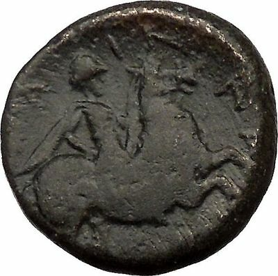 PELINNA Thessaly 306BC Mantho w casket Horse man Ancient Greek Coin i36834 RARE