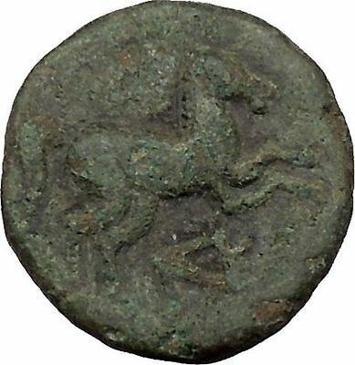 Maroneia in Thrace 400BC Original Ancient Greek Coin Horse Vine Grapes  i37014