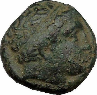 Philip II Alexander the Great Dad OLYMPIC GAMES Ancient Greek Coin Horse i37086
