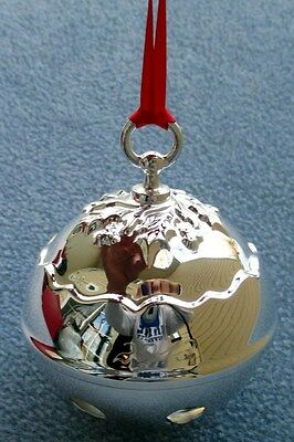 2013 Reed and Barton Silverplate Sleigh Holly Bell New in Box Sleigh Bell