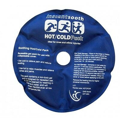 2 x Circular Reusable Hot Cold Pack for Injuries, Sports, Therapy & Pain Relief.