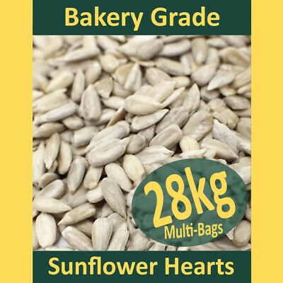 28kg Sunflower Hearts PREMIUM BAKERY GRADE Wild Bird Food Dehulled Seeds Kernels