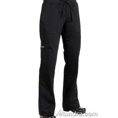 Chef Works - CPWO-BLK-L - Women's Black Cargo Chef Pants (L)
