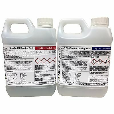 Polycraft FC6666 Badge Doming Water Clear Polyurethane Casting Resin 2kg Kit