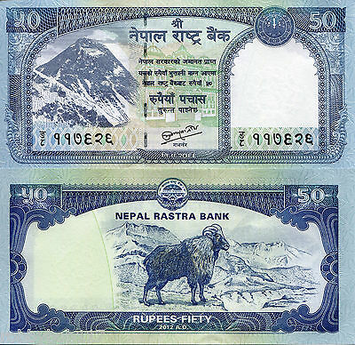 NEPAL 50 Rupees Banknote World Money Currency Asia Note p72 Bill Tahr & Everest