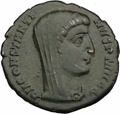 CONSTANTINE I the GREAT 347AD  Ancient Roman Coin Christian Deification  i37162