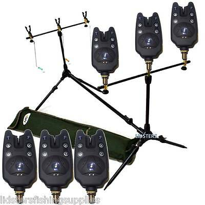 New Ngt Carp Fishing Multi Rod Pod With Swingers + 3 Carp Bite Alarms Bc