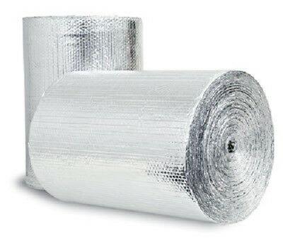 "Low-E Reflective Foam Core Insulation Pipe HVAC Duct Wrap (24""x50')"