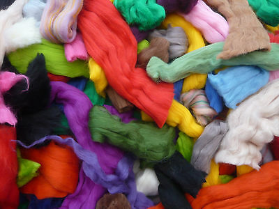 Heidifeathers® Wool Scraps / Off Cuts / Waste, Merino, British, Natural, Felting