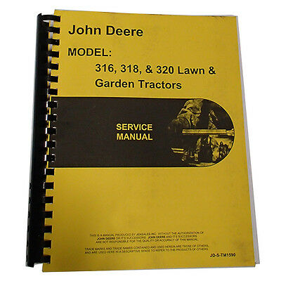 New Service Manual For John Deere 316 318 420 Tractor
