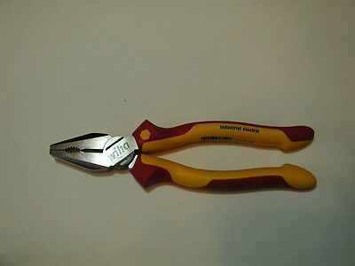 """Wiha 8"""" Industrial Finished Insulated Combination Pliers 32930"""