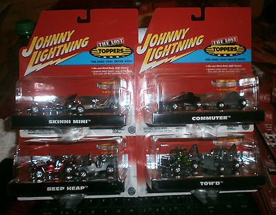 """JOHNNY LIGHTNING """"THE LOST TOPPERS"""" FIRST SHOT SET, SEALED, RARE"""