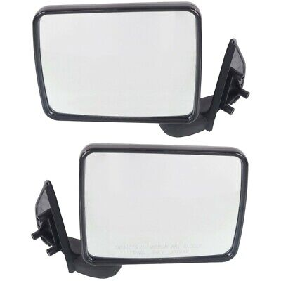 Manual Side View Mirror Left//Right Pair Set for Ram 50 Mighty Max Pickup Truck