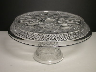 """Imperial Cape Cod Cake Stand Clear 11"""" D, 6 1/4"""" T"""