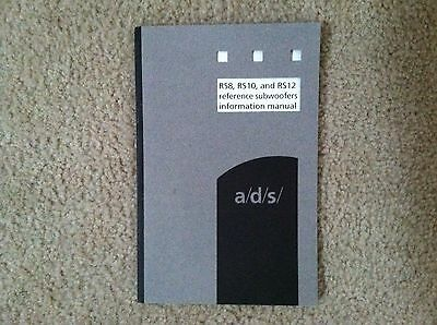 a/d/s/ RS Series Subwoofer Owner's Manual **Mint** Original