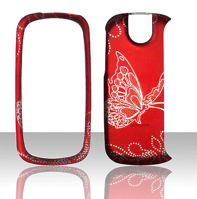 Red Buttterfly Pantech Impact P7000 AT&T Case Cover Hard Phone Snap on Cases