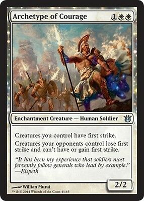 2x Archetipo del Coraggio - Archetype of Courage MTG MAGIC BNG Eng/Ita