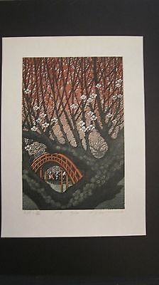 MORIMURA RAY - Japanese WOODBLOCK Print - Plum Blossoms in Tenjin SOLD OUT