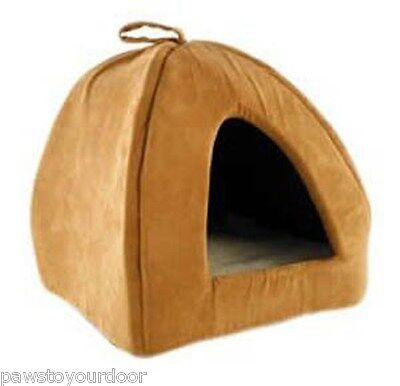 Cat igloo pet bed large & small removable cushion animal instincts