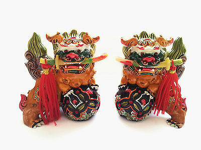 Feng shui foo dogs/ temple lions/guardian lions statue to Ward Off Evil Energy
