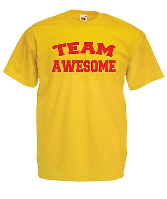 TEAM AWESOME funny present NEW xmas birthday gift ideas boys girls top T SHIRT