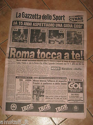 As Roma Liverpool Final European Cup Finale Coppa Campioni 1984 Gazzetta Sport