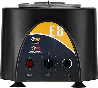 NEW ! LW Scientific USA E8 Variable Speed Angled Rotor Centrifuge, 8 x (3-15ml)