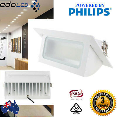 40W SMD LED shopfitter Rectangle Downlight Retail Shop Light Commercial 5000K