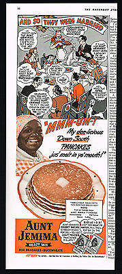 1942 Aunt Jemima Pancakes Just Melt In You Mouth Black Americana Print Ad