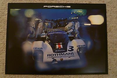 1983 Porsche Rothmans 956 Showroom Advertising Poster RARE!! Awesome L@@K