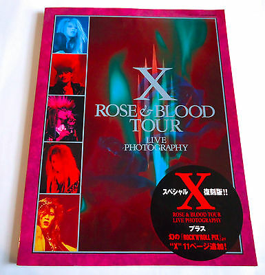 X JAPAN Rose & Blood Tour Live Photography JAPAN PHOTO BOOK 2008 Special Reissue