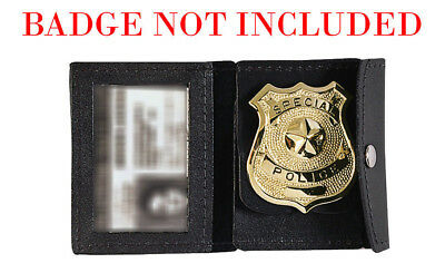 badge holder id card leather rothco 1129