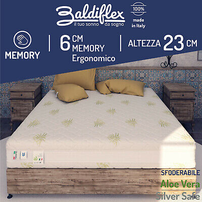 Materasso Singolo 4 Strati MEMOREX PLUS in Memory Foam Made in Italy Baldiflex