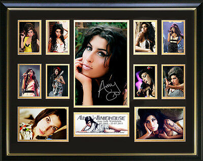 Amy Winehouse Signed Framed Memorabilia