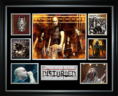 Disturbed Signed Framed Memorabilia