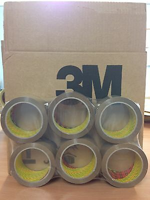 6 Rolls 3M Scotch Buff / Brown Packaging / Packing Tape 48Mm X 66M Free 24H