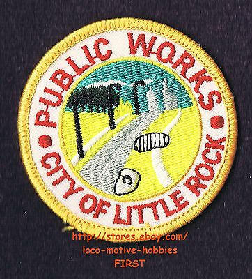 LMH PATCH Badge  LITTLE ROCK Arkansas  PUBLIC WORKS Jacket Uniform Insignia used