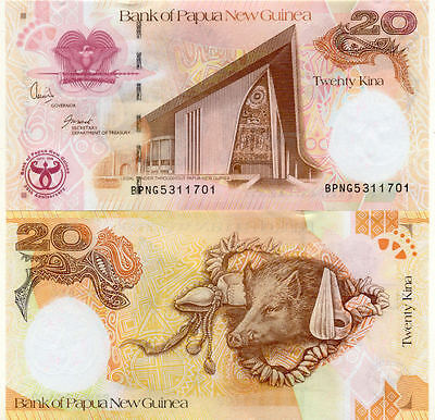 Billet banque PAPUA NEW GUINEA PAPOUASIE GUINEE SANGLIER 20 K 2008 UNC NEUF NEW